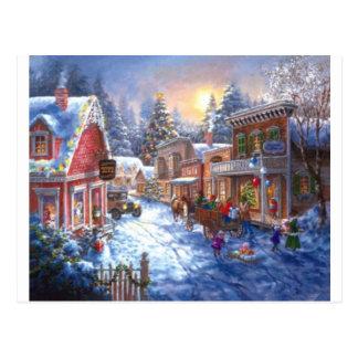 Fun In Christmas Town Postcard