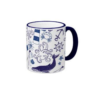 Fun in the Sea Ringer Coffee Mug