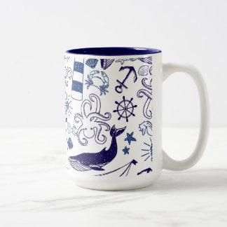 Fun in the Sea Two-Tone Coffee Mug