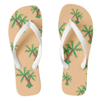 Fun in the Sun Palm Trees Flip Flops