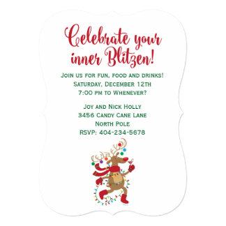 Fun Inner-Blitzen Holiday Party Invitation