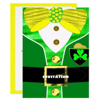 Fun Irish Leprechaun Costume Personalized Invite