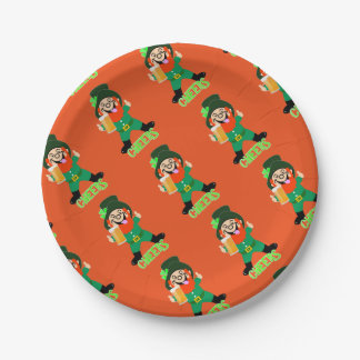 Fun Irish Themed  Lucky Leprechaun Party Paper Plate