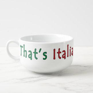 Fun Italian Spaghetti Themed soup bowl