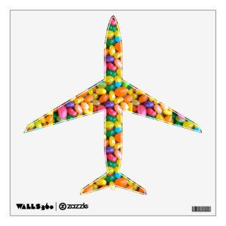 "Fun Jelly Bean Airplane 12"" Wall Decal"