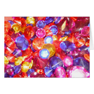 Fun Jewels Gems Colorful Colors Vibrant Pretty Card