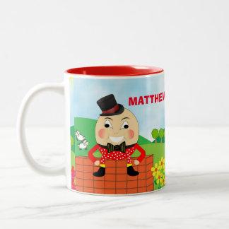 Fun Jolly Humpty Dumpty Cute Personalized Two-Tone Coffee Mug