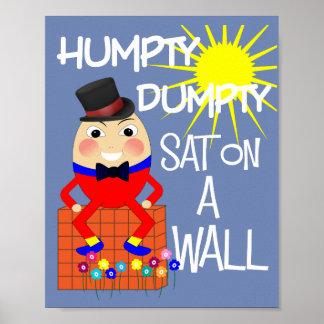 Fun Jolly Nursery Rhyme Humpty Dumpty Cute Poster