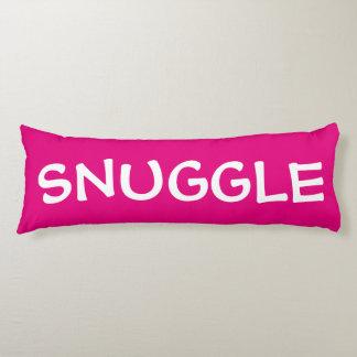 Fun jumbo text on fuchsia or your color choice body pillow
