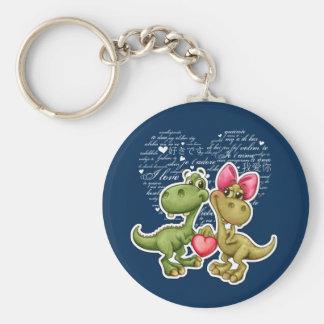 Fun Jurassic Love Valentine's Day Gift Keychains