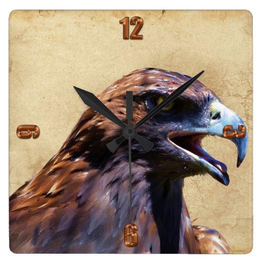 Fun Juvenile Bald Eagle Attitude Wildlife Clocks