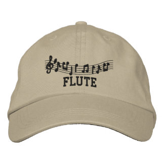 Fun Khaki Embroidered Flute Cap Embroidered Hats