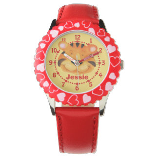 Fun kids tiger art wrist watch