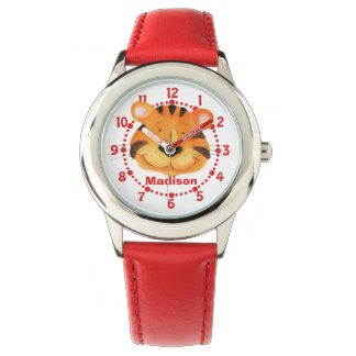 Fun kids tiger art wrist watch