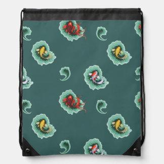 Fun Koi Fish Themed Drawstring Bag