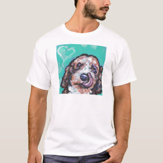 Fun Labradoodle Dog bright colorful Pop Ar T-Shirt