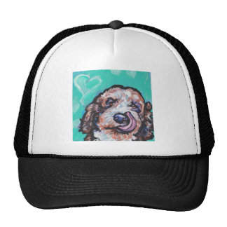Fun Labradoodle Dog bright colorful Pop Ar Trucker Hat