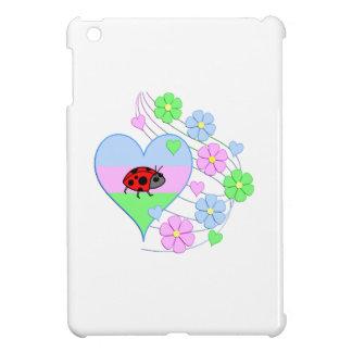 Fun Ladybug Heart iPad Mini Covers