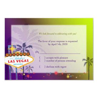 Fun Las Vegas Destination Wedding RSVP Card