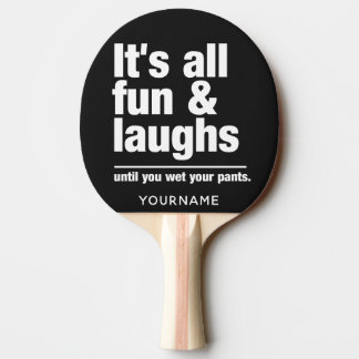 FUN & LAUGHS custom color ping pong paddle