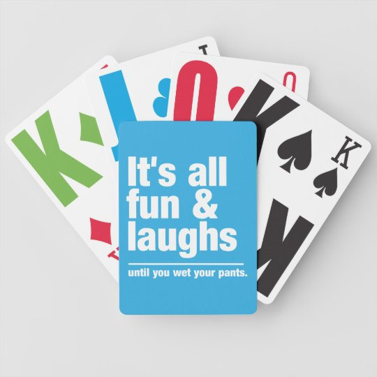 FUN & LAUGHS custom colour playing cards