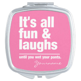 FUN & LAUGHS custom colour pocket mirror Compact Mirror