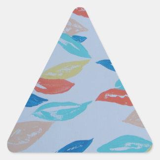 Fun Leaves Triangle Sticker
