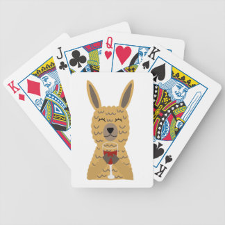Fun Llama Drinking Red Wine Bicycle Playing Cards