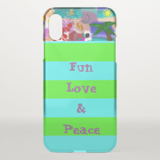 Fun Love & Peace iPhone X Case