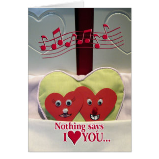Fun Love - Two Hearts in Bed Card