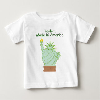 "Fun ""Made in America"" cartoon ""Statue of Liberty"", Baby T-Shirt"