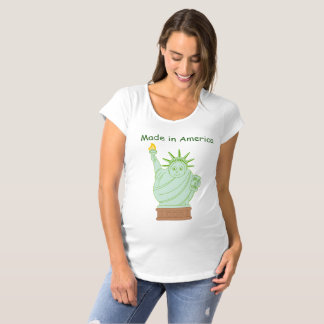 "Fun ""Made in America"" cartoon ""Statue of Liberty"", Maternity T-Shirt"