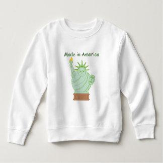 """Fun """"Made in America"""" cartoon """"Statue of Liberty"""", Sweatshirt"""