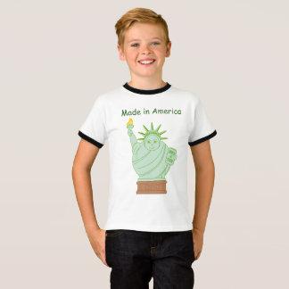 "Fun ""Made in America"" cartoon ""Statue of Liberty"", T-Shirt"