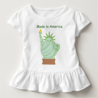 "Fun ""Made in America"" cartoon ""Statue of Liberty"", Toddler T-shirt"