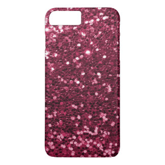 Fun Magenta Pink Faux Glitter Sparkle Print iPhone 8 Plus/7 Plus Case