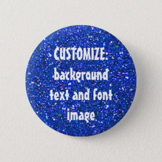 FUN! MAKE YOUR OWN BLUE GLITTER PIN! ** 2 INCH ROUND BUTTON
