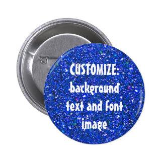 FUN! MAKE YOUR OWN BLUE GLITTER PIN! **