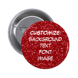 FUN! MAKE YOUR OWN RED GLITTER PIN!