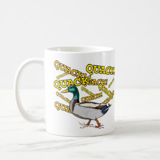Fun Male Mallard Duck Walking Quack Coffee Mug