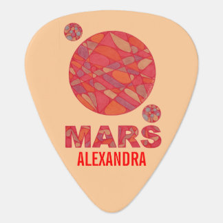 Fun Mars The Red Planet Geek Musician Personalized Guitar Pick