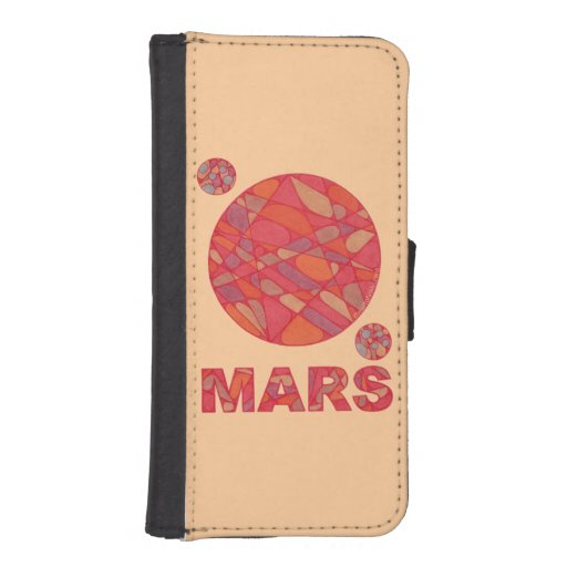 Fun Mars The Red Planet Geek Phone Wallet Case
