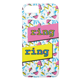 "Fun Memphis Retro Pattern ""ring ring"" Phone Case"