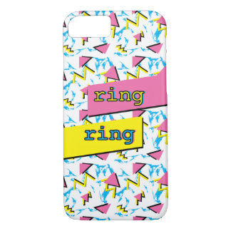 "Fun Memphis Retro Pattern  Small ""ring ring"" Case"