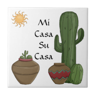 Fun Mi Casa Su Casa Welcome Spanish Greeting Tile