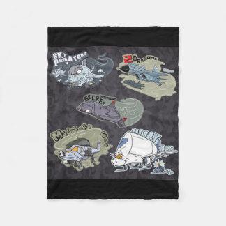 Fun Military Planes Fleece Blanket