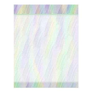 Fun Mint Green Lavender Yellow Pattern Letterhead Template