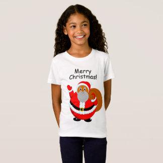 Fun modern cartoon of a jolly Black Santa Claus, T-Shirt