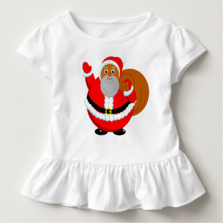 Fun modern cartoon of a jolly Black Santa Claus, Toddler T-shirt