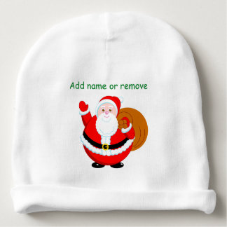 Fun modern cartoon of a jolly Santa Claus, Baby Beanie